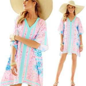 🌴Lilly Pulitzer Pewter Pink Sole Seaurchin Caftan
